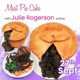 Meat Pie Cake with Julie Rogerson Online - 27th September 10am