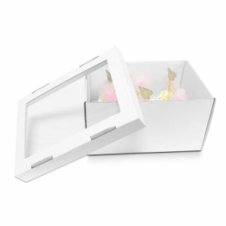 Extra Deep Corrugated Cupcake Box Fits 6