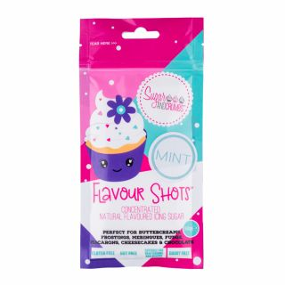 Flavour Shots! - Concentrated Flavoured Icing Sugar - Mint