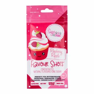 Flavour Shots! - Concentrated Flavoured Icing Sugar - Raspberry Ripple