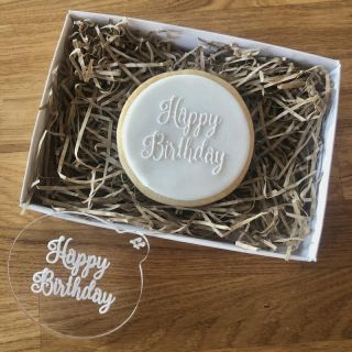 Happy Birthday Curly Font Cookie Embosser