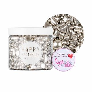 Happy Sprinkles Choco Explosion Silver Larger Tub195g
