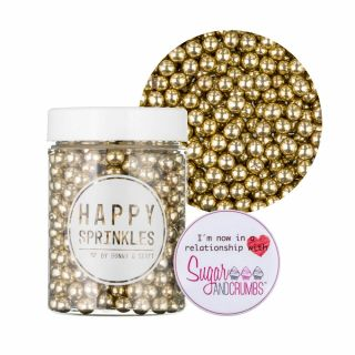 Happy Sprinkles GOLD Choco Metallic Sprinkles 75g