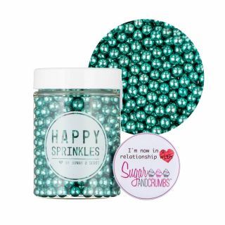 Happy Sprinkles GREEN Choco Metallic Sprinkles 75g