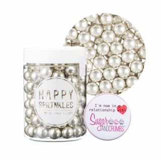 Happy Sprinkles SILVER Choco Crunch Medium 90g