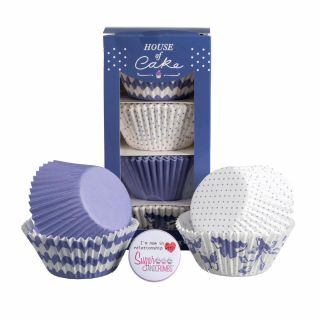 House of Cake Cupcake Cases China Blue Pack of 100