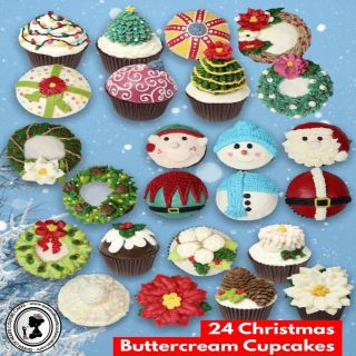 24 Christmas Buttercream Cupcakes Online