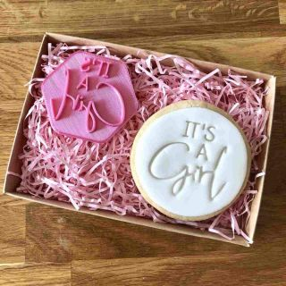 It's a Girl Cookie Stamp
