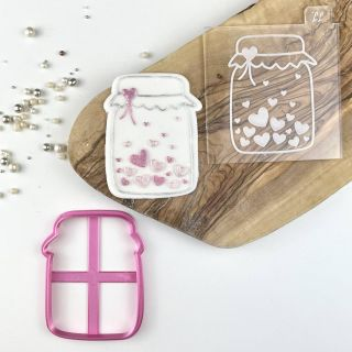 Jar of Hearts Cookie Cutter and Embosser Set