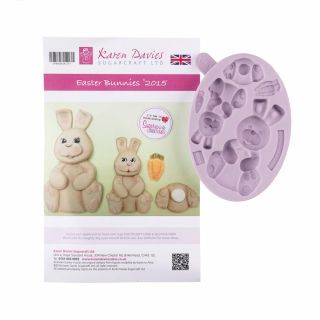 Karen Davies Silicone Mould Easter Bunnies