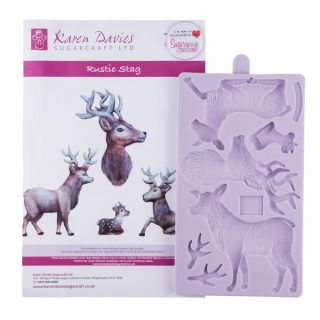 Karen Davies Silicone Mould Rustic Stag