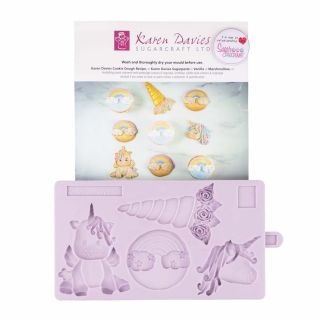 Karen Davies Silicone Mould Unicorn Cookie