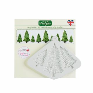 Katy Sue Silicone Mould FIR TREES SILHOUETTES