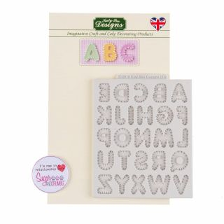 Katy Sue Silicone Mould STITCHED ALPHABET