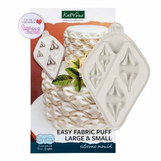 Katy Sue Creative Cake System Silicone Mould Easy Fabric Puff 2 in 1 (Large and Small)