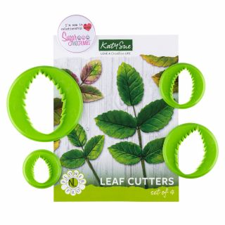 Katy Sue Flower Pro Five Leaf Cutters Set of 4.a