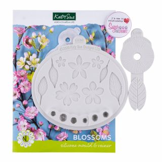 Katy Sue Flower Pro Silicone Mould Blossoms and Veiner