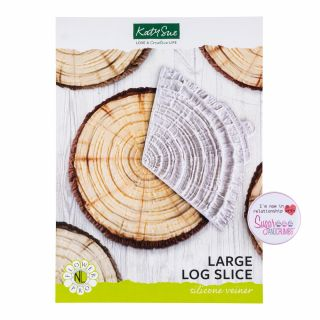 Katy Sue Flower Pro Silicone Mould Large Log Slice Veiner