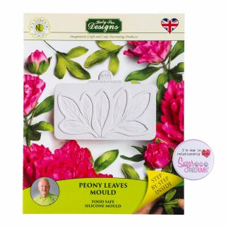 Katy Sue Flower Pro Silicone Mould Peony Leaves