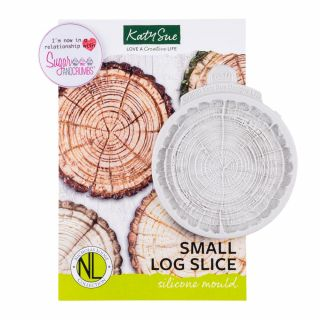 Katy Sue Flower Pro Silicone Mould SMALL Log Slice