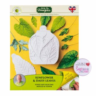 Katy Sue Flower Pro Silicone Mould Sunflower Daisy LEAVES Veiner.a