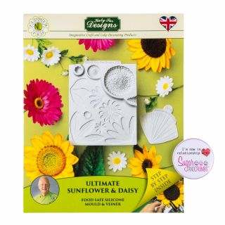 Katy Sue Flower Pro Silicone Mould ULTIMATE Sunflower Daisy and Veiner.a
