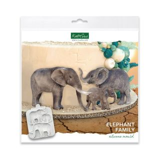 Katy Sue Silicone Mould Elephant Family.abcd