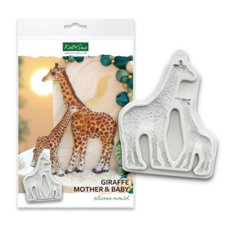 Katy Sue Silicone Mould Giraffe Mother and Baby.abcd