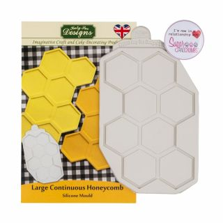 Katy Sue Silicone Mould Large Continuous Honeycomb