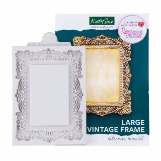 Katy Sue Silicone Mould LARGE Vintage Frame