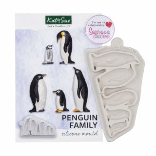 Katy Sue Silicone Mould Penguin Family