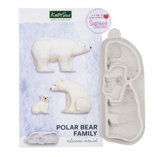 Katy Sue Silicone Mould POLAR Bear Family