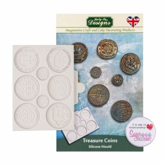 Katy Sue Silicone Mould TREASURE COINS