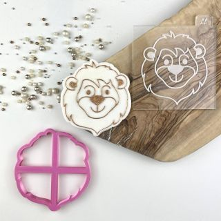 Lion Jungle Cookie Cutter and Embosser Set