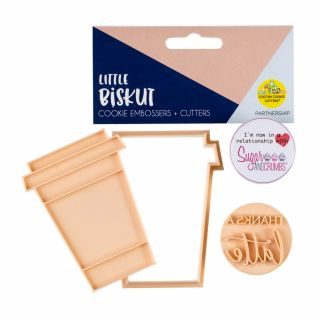 Little Biskut Cookie Embosser and Cutter LATTE