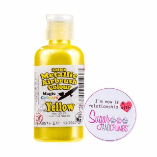 Magic Colours Airbrush Liquid METALLIC YELLOW 55ml