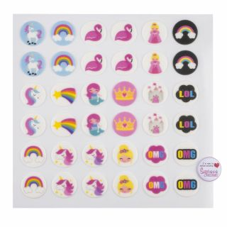 Magical Collection Printed Sugar Edible Toppers Pack of 48