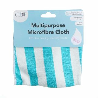 Multipurpose Microfibre Cloths BLUE AND WHITE STRIPE Pack of 1