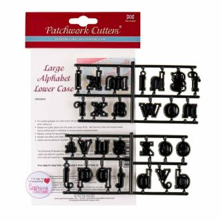 Patchwork Cutters LARGE Alphabet Lowercase