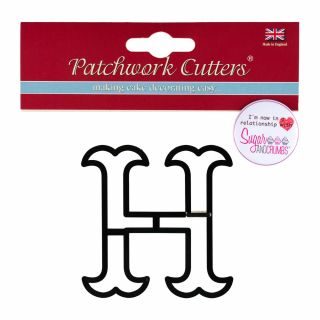 Patchwork Cutters Large Letter H