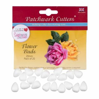 Patchwork Cutters Flower Buds 20mm Pack of 20