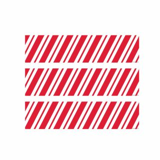 PhotoCake Strips CANDY CANE STRIPES