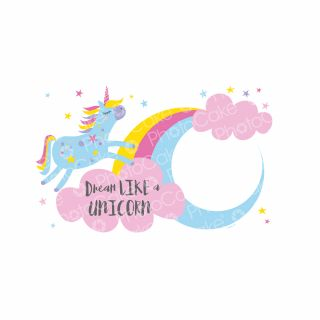 PhotoCake A4 Personalised Dream Unicorn