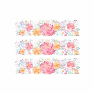 PhotoCake Strips FRESH RAIN FLORAL STATEMENT