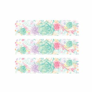 PhotoCake Strips FRESH RAIN FLORAL WATERCOLOUR