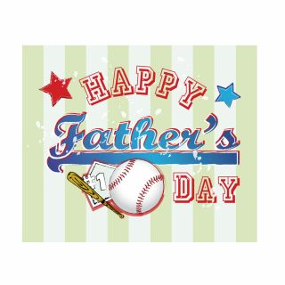 PhotoCake A4 Happy Fathers Day Baseball