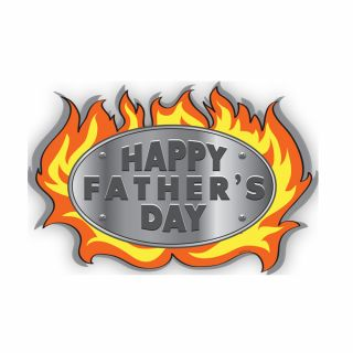 PhotoCake A4 Happy Fathers Day Flames