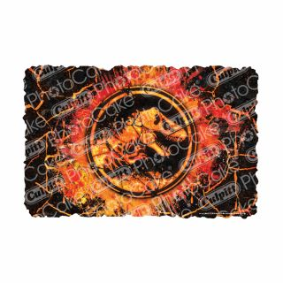 PhotoCake A4 Image Jurassic world Molten
