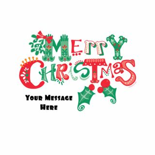 PhotoCake A4 Personalised Merrymaking Merry Christmas