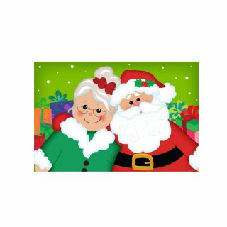 PhotoCake A4 Mr And Mrs Claus